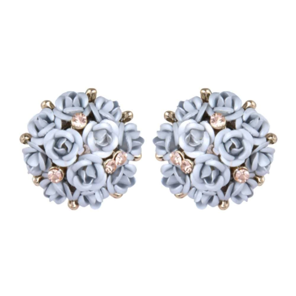 Trendoo Jewelry Party Wear White Studs