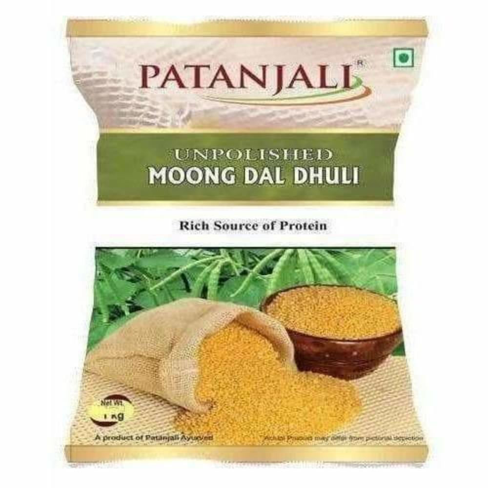 Patanjali Unpolished Moong Dal Dhuli (1 kg)