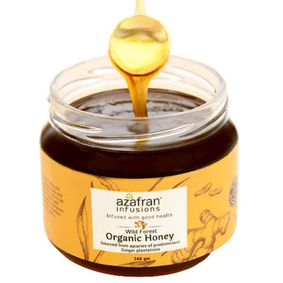 Azafran Infusions Wild Forest Organic Honey (Ginger) - Distacart
