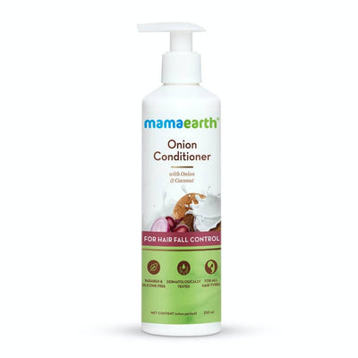 Mamaearth Onion Conditioner + Hair Mask + Hair Oil + Hair Serum For Hair Fall Control - Distacart