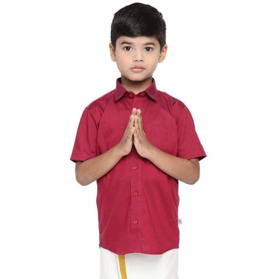 Ramraj Giza Cotton Set - Red - Distacart
