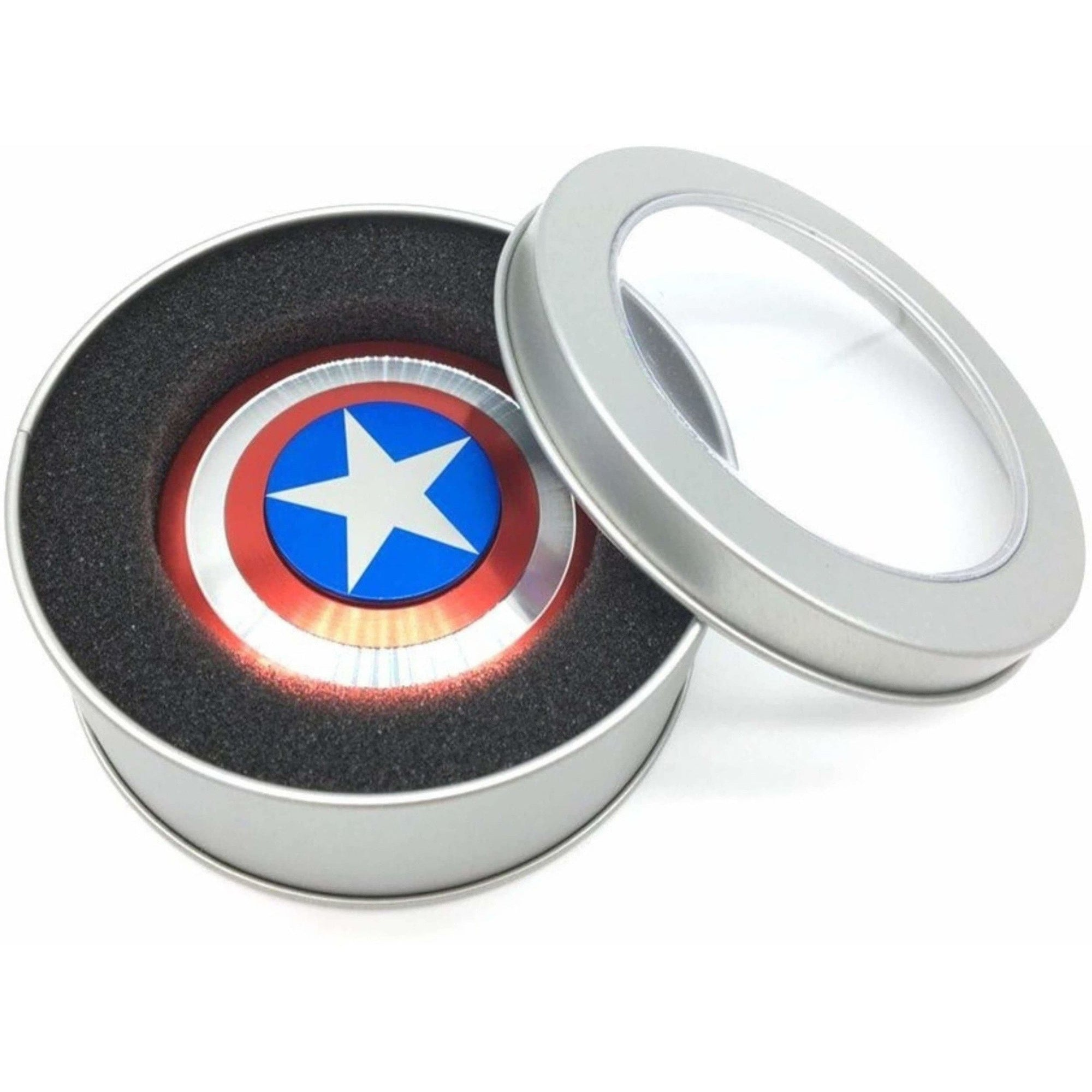 S.Blaze Amazing Metal Rounded Captain America Avenger Shield Fidget Spinner Toy for Kids & Adults  (Red)