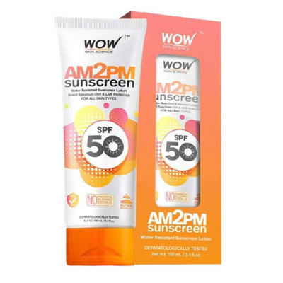Wow Skin Science AM2PM SPF50 Water Resistant & Mineral Oil Sunscreen Lotion