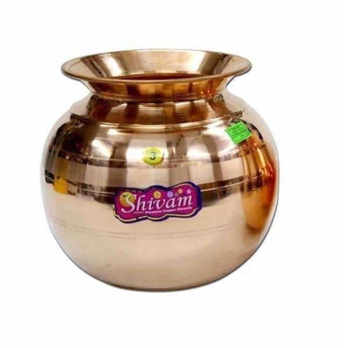 Shivam Copper Pot - Water Storage Pot - Dista Cart
