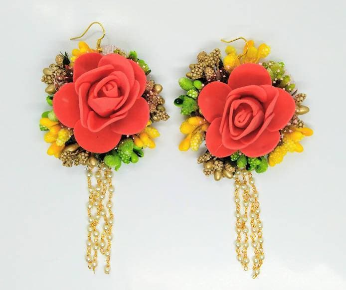 Multicolor Artificial Floral Earrings