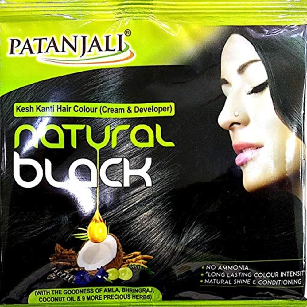 Patanjali Kesh Kanti Hair Colour (Cream & Developer) - Natural Black