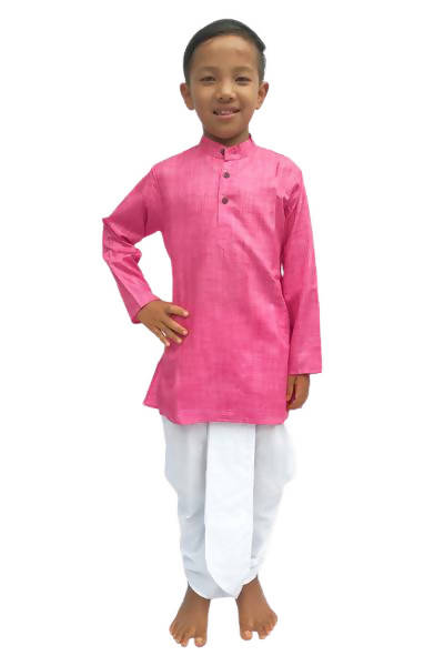 Byogi Silk - Pink Colored Boys Kurta - Distacart