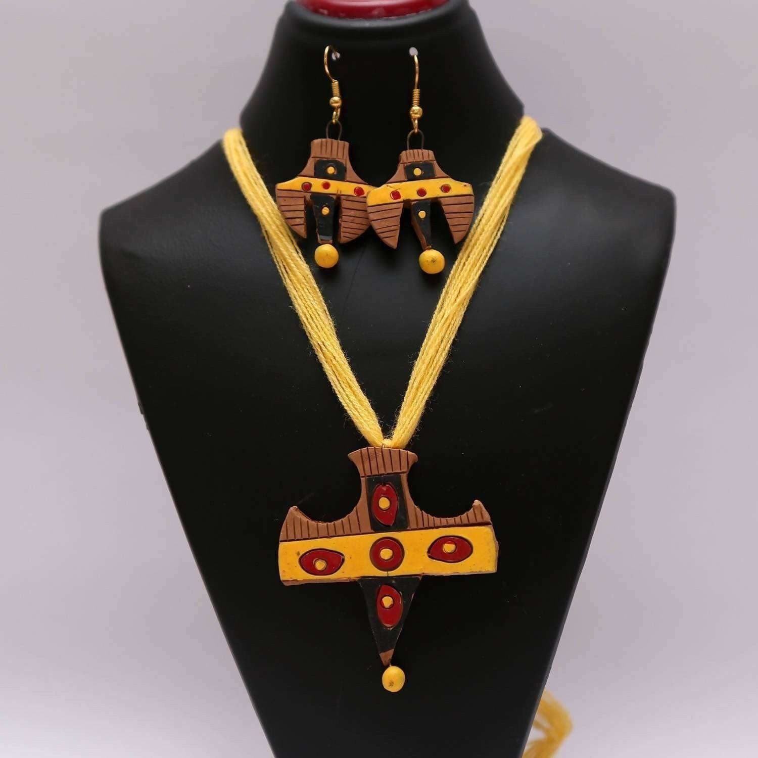 Terracotta Unique Design Jewelry Set