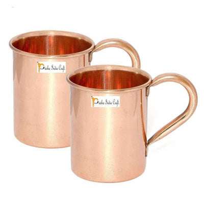 Copper Mug , 500ml - Set of 2