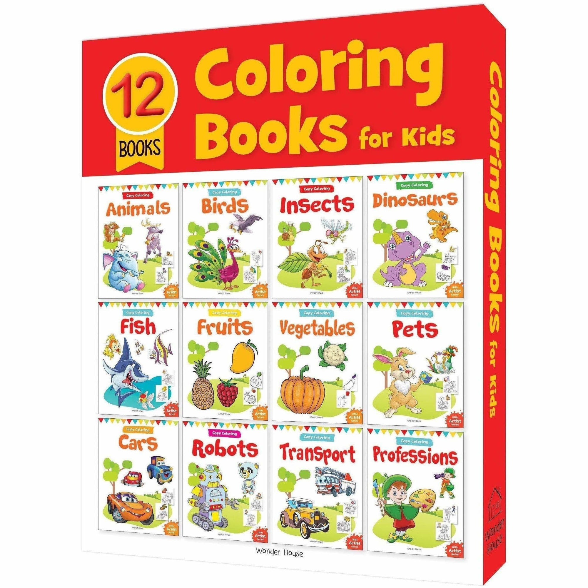 Colouring Books For Kids: A Set of 12 Books