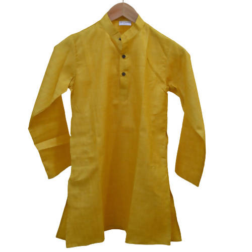 Byogi Silk - Yellow Colored Boys Kurta - Distacart
