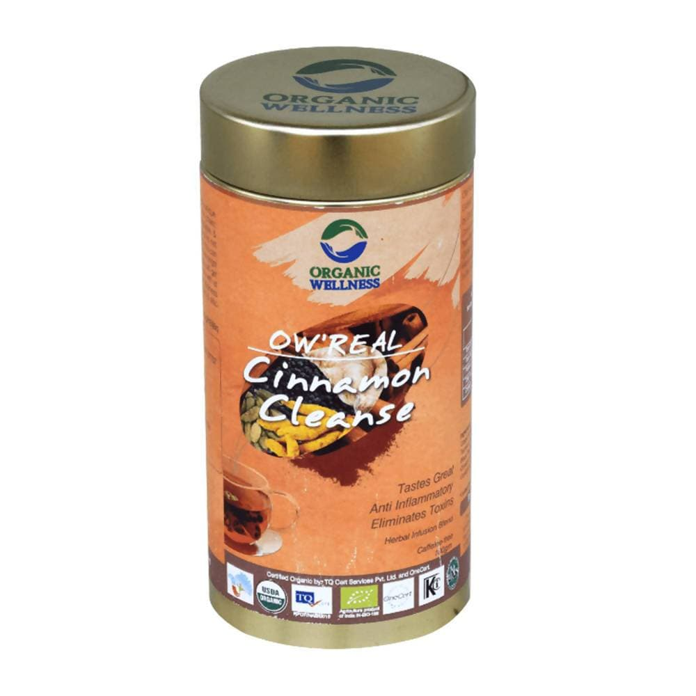 Organic Wellness Ow'Real Cinnamon Cleanse Leaf Tea Tin Pack