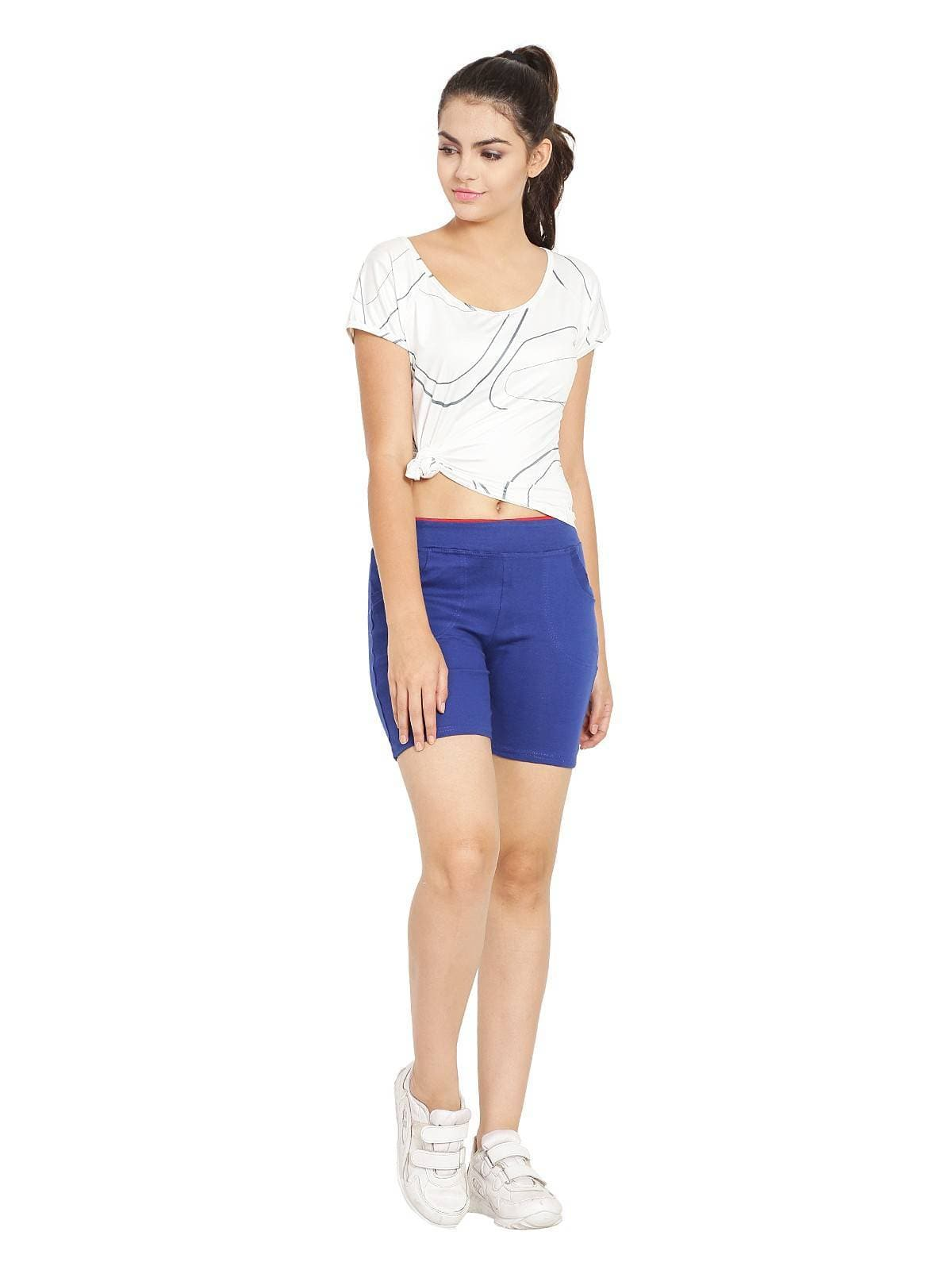 Asmaani Royal Blue Color Short Pant with Two Side Pockets