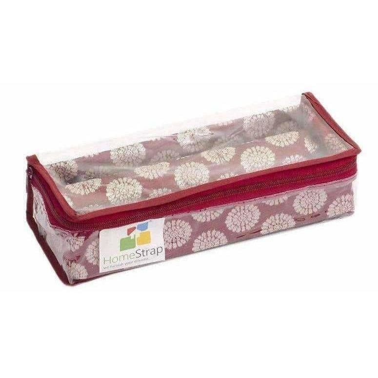 Rod Brocade Bangle Box - Maroon - Pack of 3