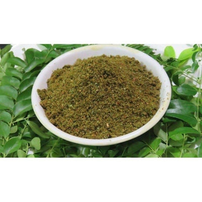 Curry Leaves spicy powder/ Karivepaku kaaram (With Garlic) - Distacart