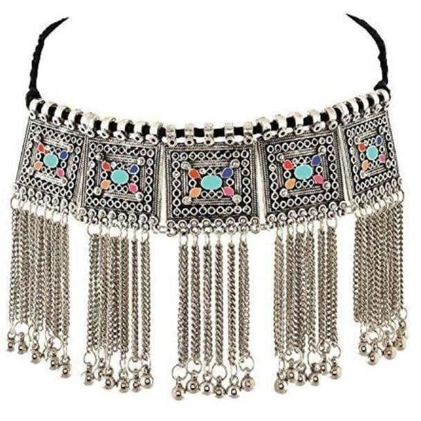 Latest traditional Jwellery set for women Color-Silver