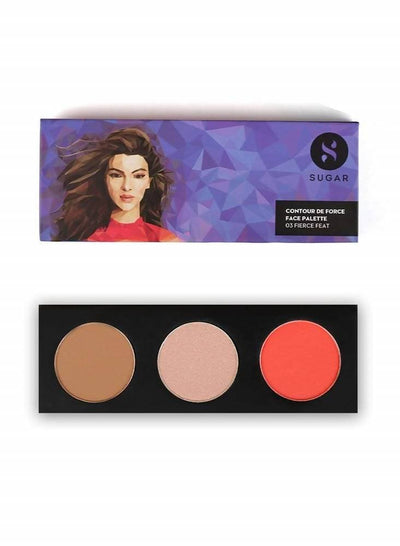 Sugar Contour De Force Face Palette - 03 Fierce Feat - Distacart