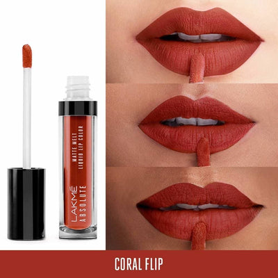Lakme Absolute Matte Melt Liquid Lip Color-Coral Flip