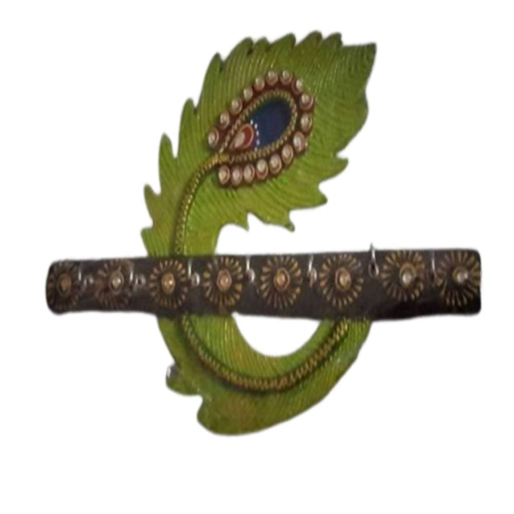 Kundan HandiKrafts Designer Wooden Leaf Shaped Key Holders - Distacart
