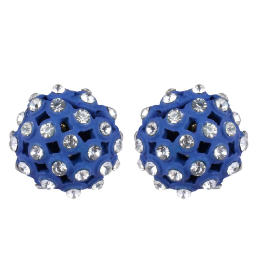 Trendoo Jewelry Gold Plated Stylish Fancy Blue Studs