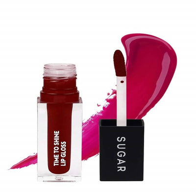 Sugar Time To Shine Lip Gloss - She-Red (Dark Red) - Distacart