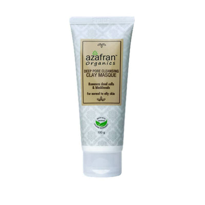 Azafran Organics Deep Pore Cleansing Clay Masque - Distacart