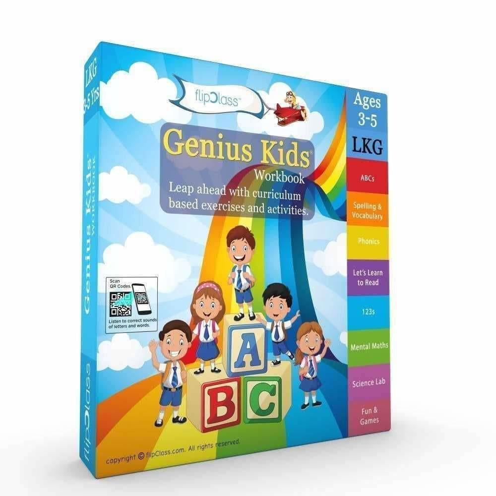 Genius Kids Worksheets for Lkg - Set of 8 Workbooks for LKG