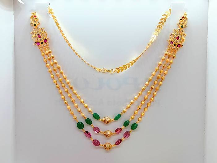 Designer Multicolor Stone Layer Necklace