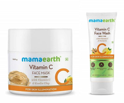 Mamaearth Vitamin C Face Wash & Sleeping Mask For Skin Illumination Combo