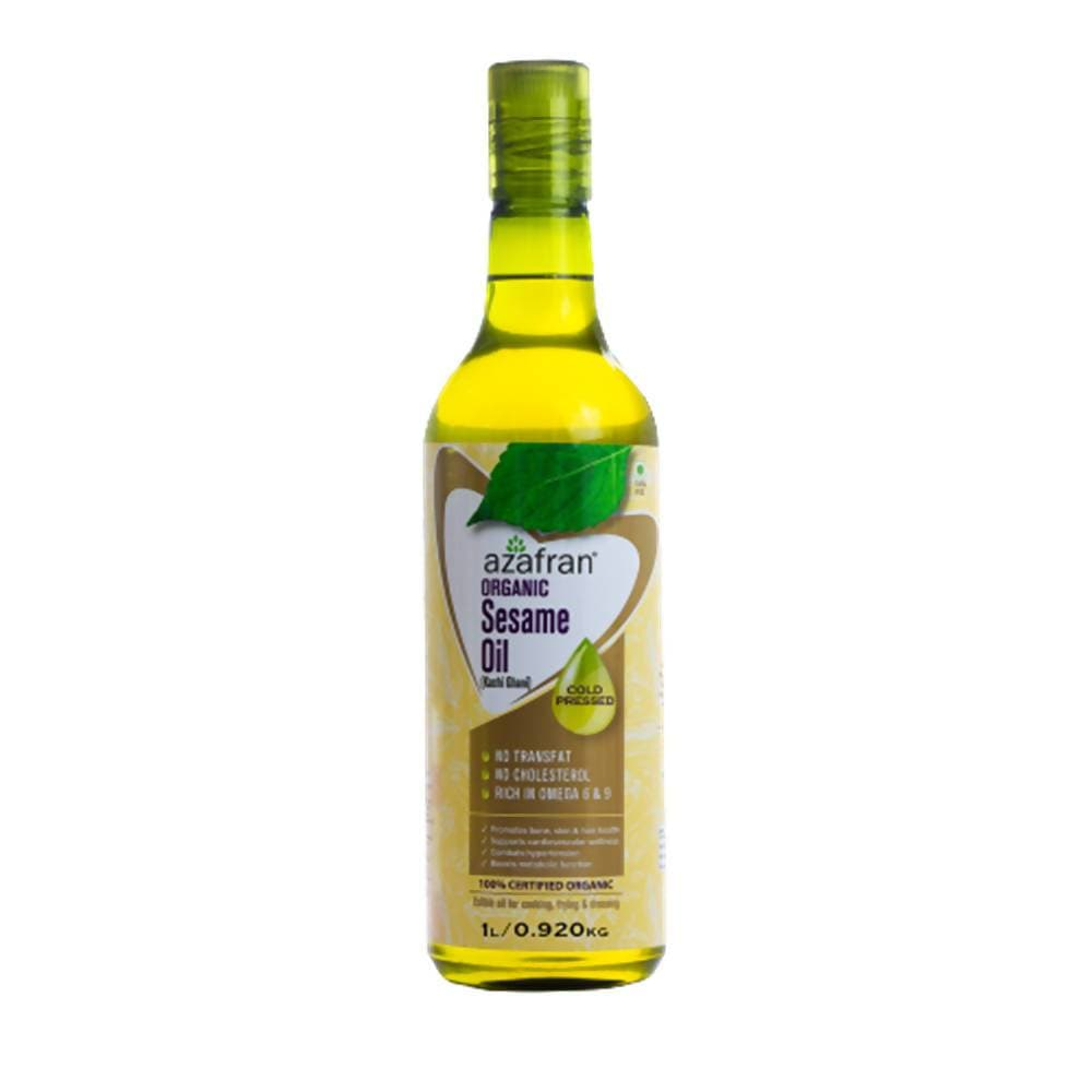 Azafran Organic Sesame Oil (Cold Pressed) - Distacart