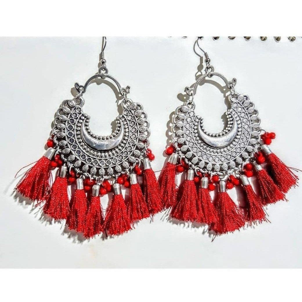 Women artificial jwellery Earring Color-Red