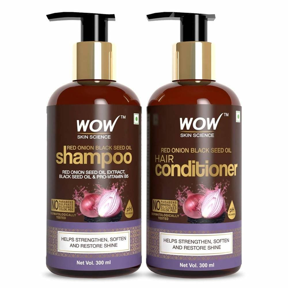 Wow Skin Science Red Onion Black Seed Oil Shampoo & Conditioner Combo