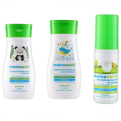 Mamaearth Nourishing Baby Care Combo Pack of 3