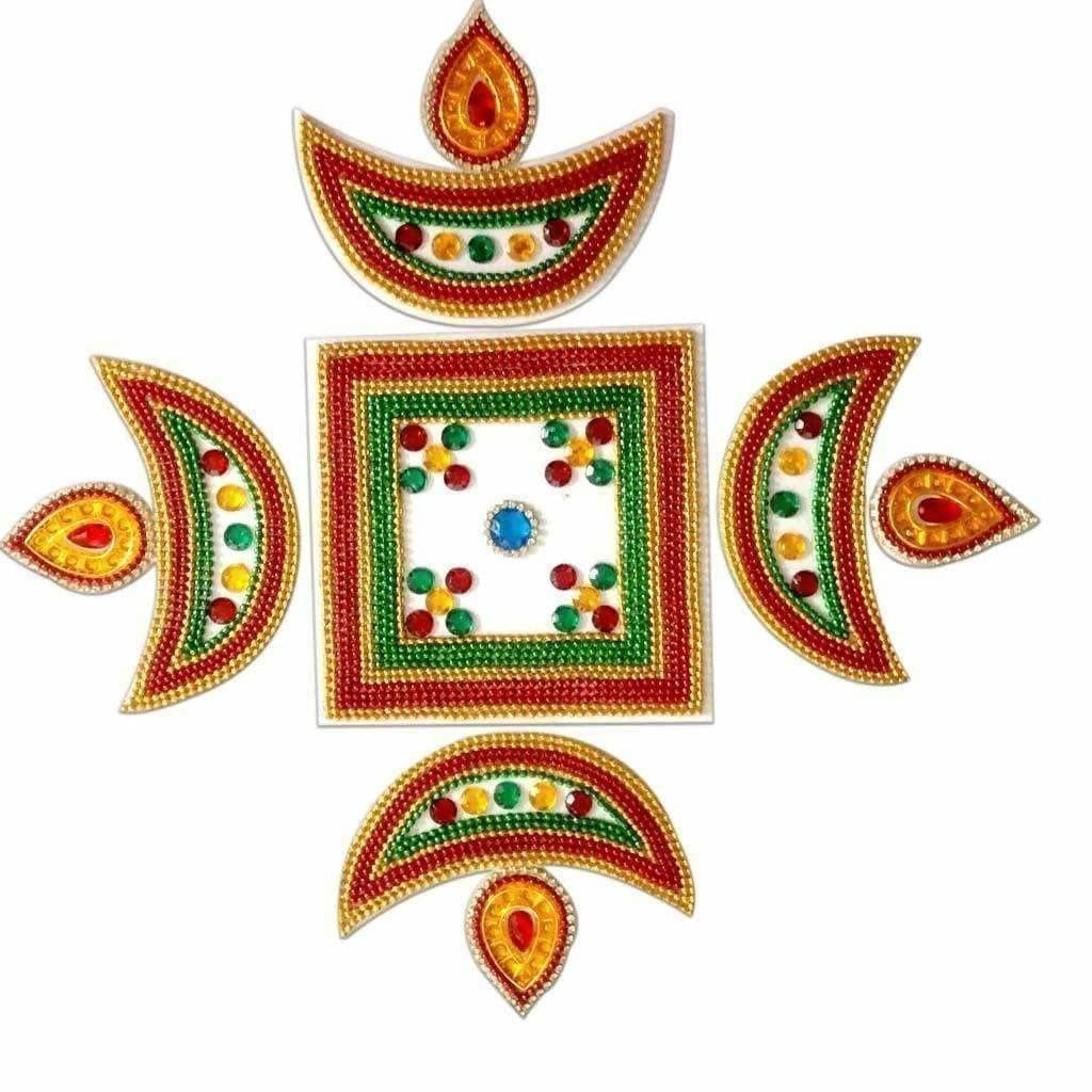 Kundan Rangoli For Puja Floor decoration & Wall Decoration - Dista Cart