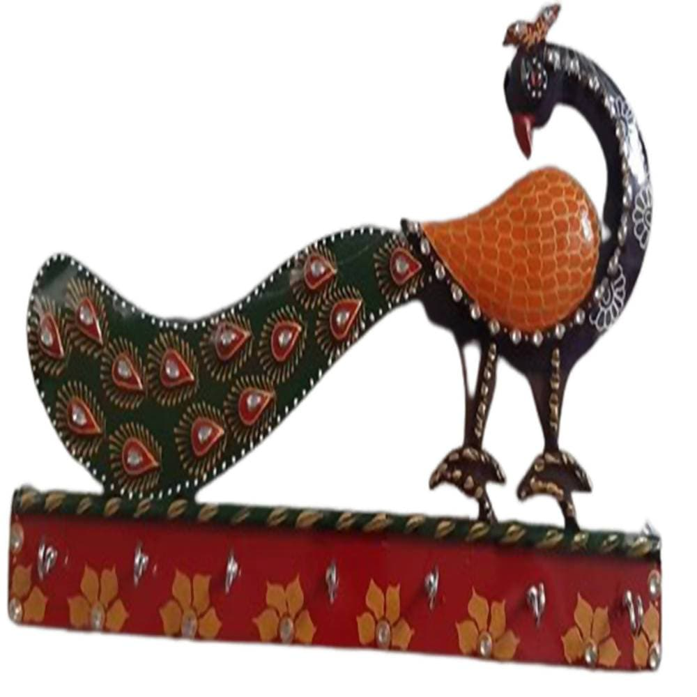 Kundan HandiKrafts Peacock Key Chain Holders - Distacart