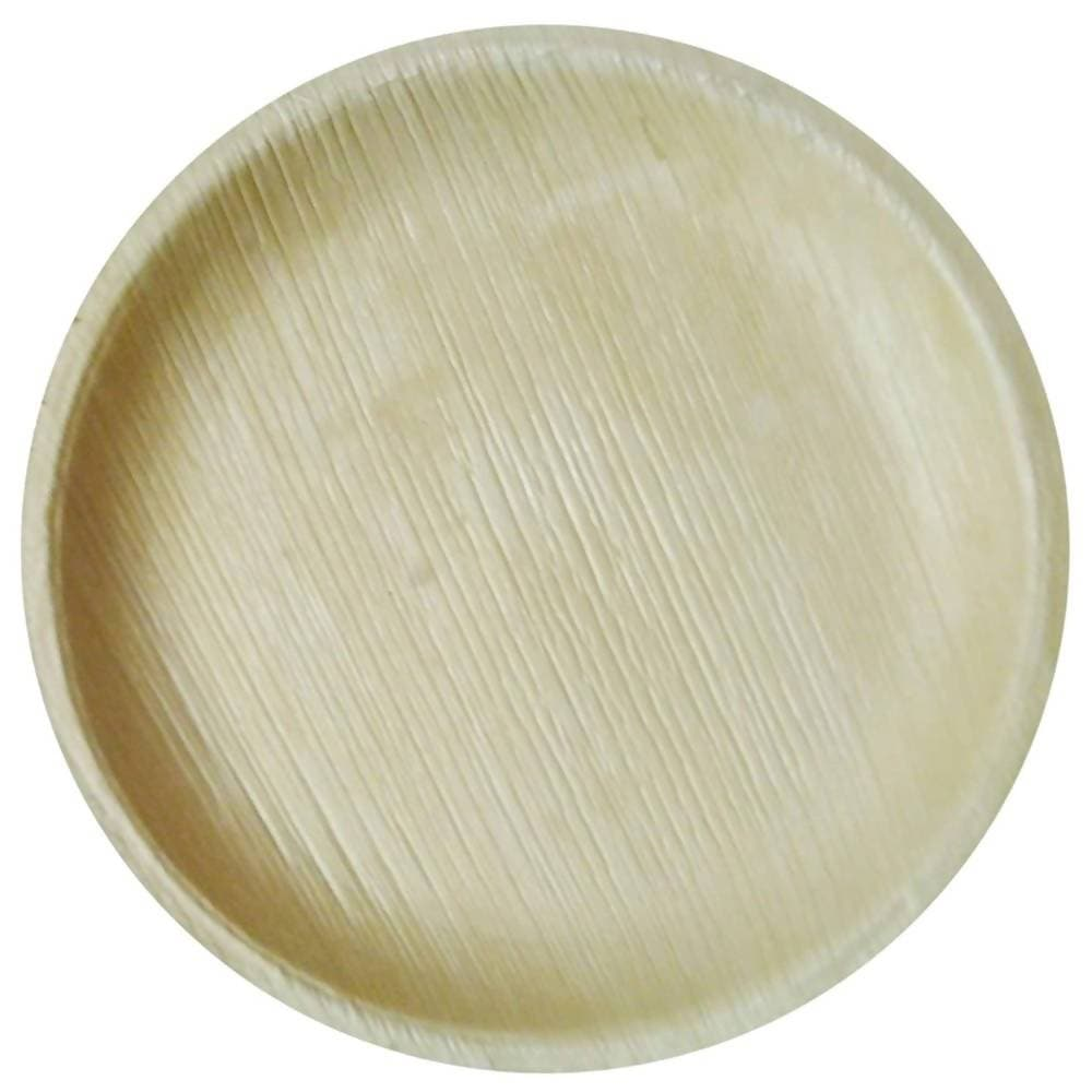 "Eco Friendly Areca Leaf 8"" Round Shallow Plate"