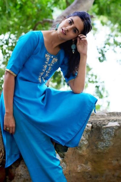 Byogi The Aqua Bloom kurta Set - Distacart