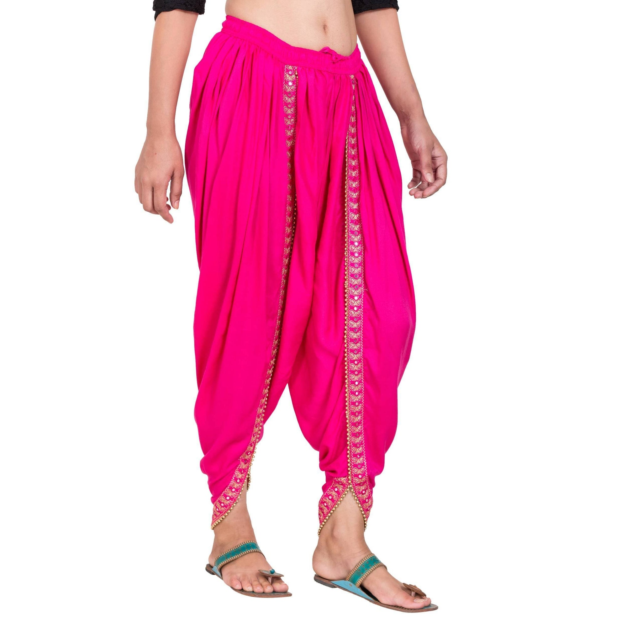 Asmaani Dark Pink color Dhoti Patiala with Embellished Border