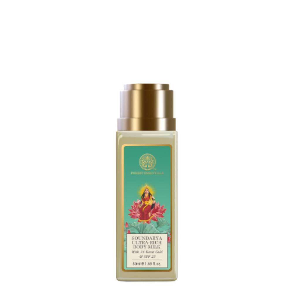 Forest Essentials Ultra Rich Body Milk Soundarya With 24K Gold & SPF25 - Distacart