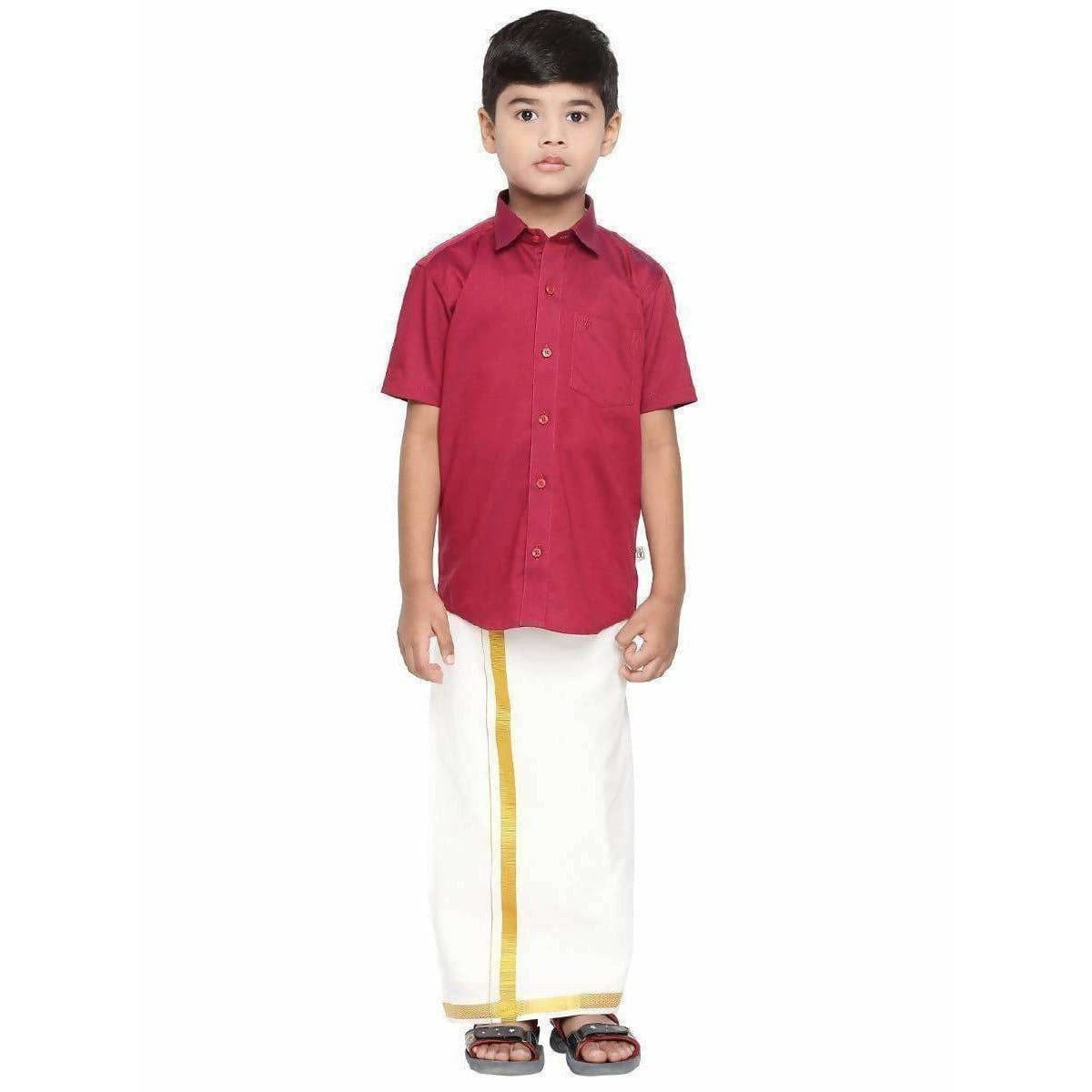 Ramraj Giza Cotton Set - Red