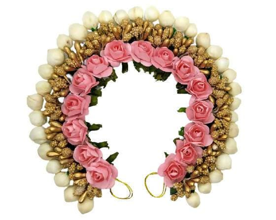 Peach Rose & Gold Gajra