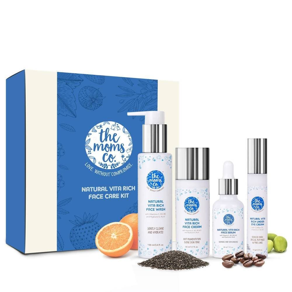 The Moms Co Natural Vita Rich Face Care Regime Kit - Distacart