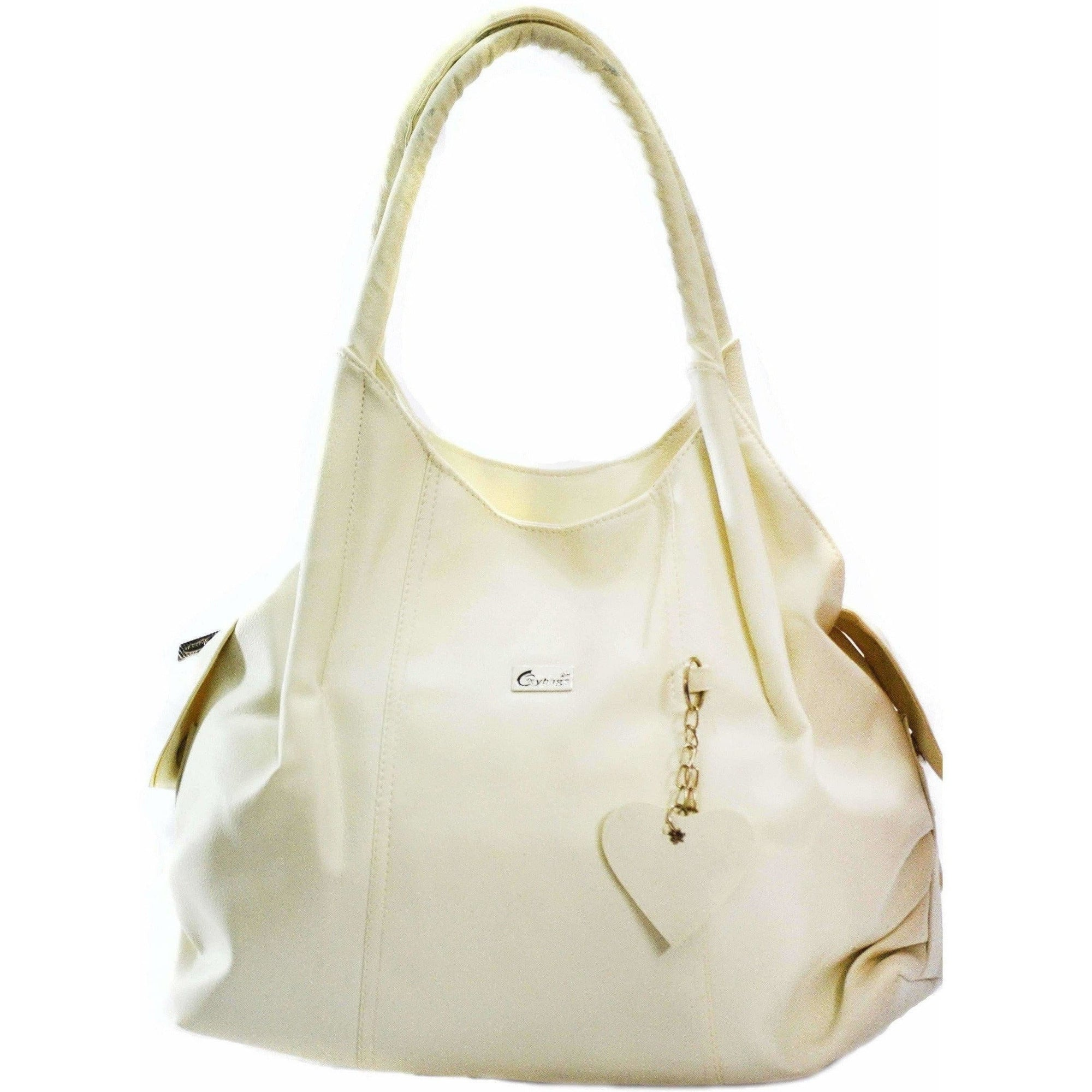 Half White Hand-Held Bag
