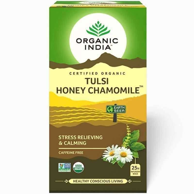 Organic India Tulsi Honey Chamomile 25 Tea Bags