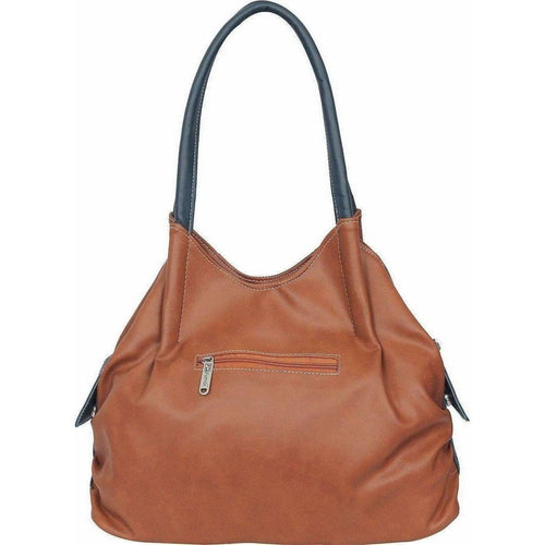 FD Fashion Shoulder Bag  (Tan, Blue) - Dista Cart