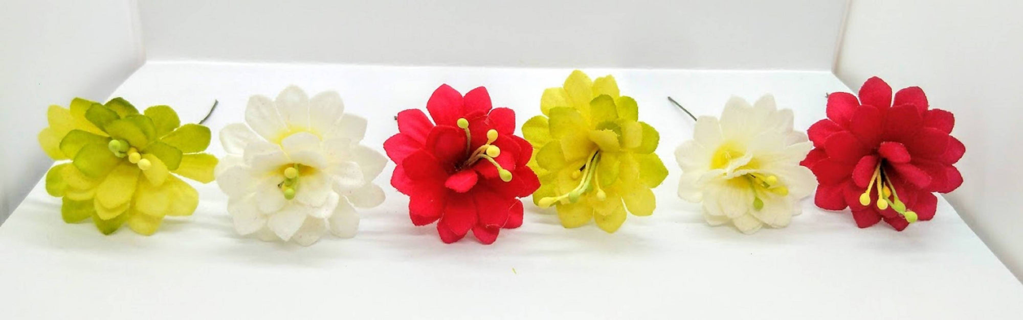 Multicolor Flower Hair Brooches