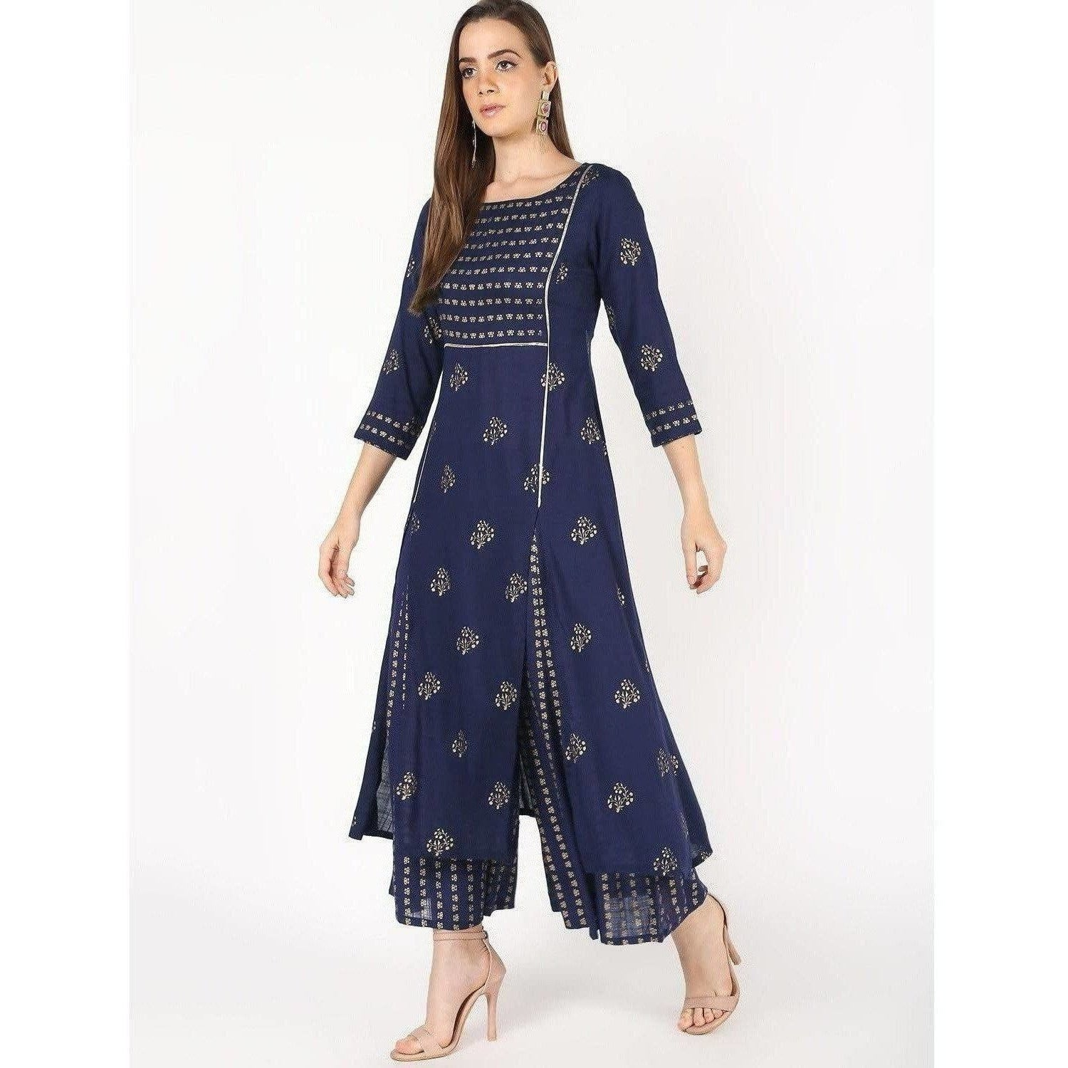 Cheera Flair A-Line Kurta With Front Slit Cut
