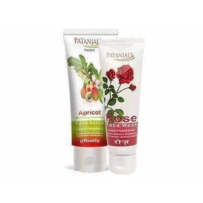 Patanjali Apricot Face Scrub Plus Rose Face Wash