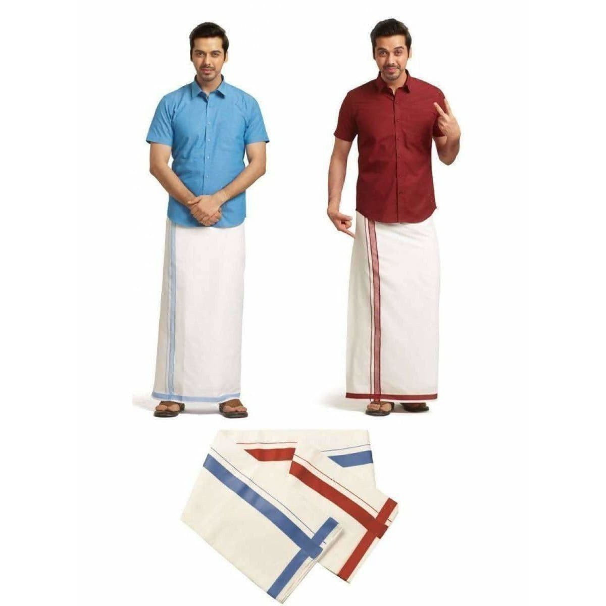 Ramraj-TwoWay Dhoti With Multicolor