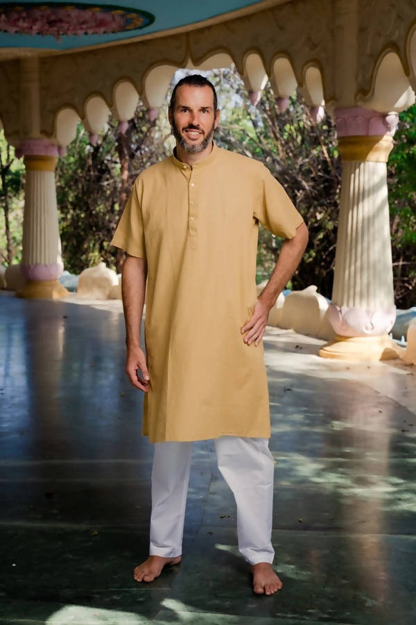 Byogi Modi Yellow Brown Color Kurta - Distacart